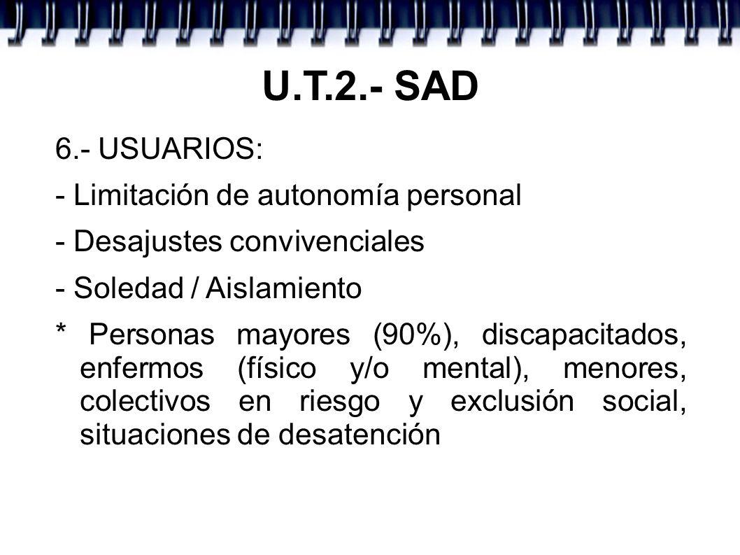 U.T.2.- SAD 6.- USUARIOS: - Limitación de autonomía personal
