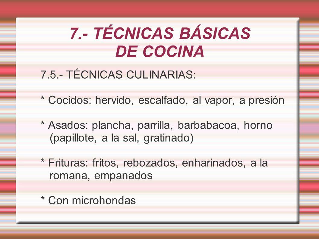 7 t cnicas b sicas de cocina ppt descargar