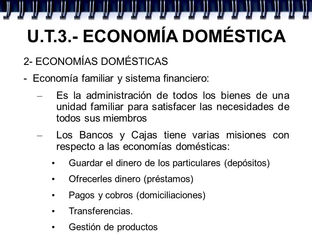U.T.3.- ECONOMÍA DOMÉSTICA