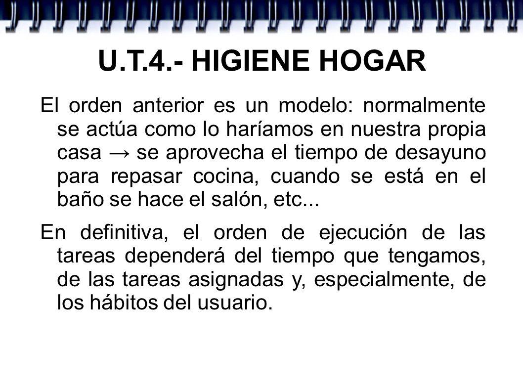 U.T.4.- HIGIENE HOGAR