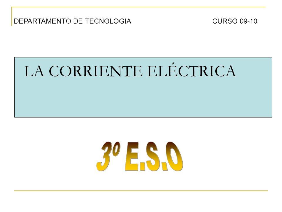LA CORRIENTE ELÉCTRICA