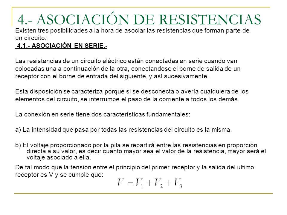 4.- ASOCIACIÓN DE RESISTENCIAS