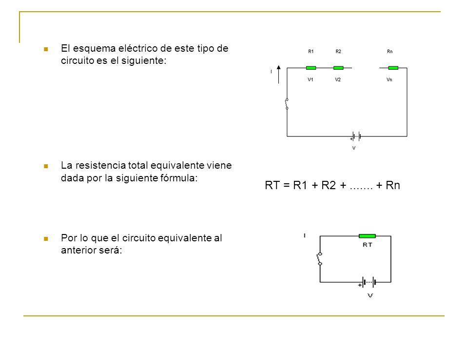 El esquema eléctrico de este tipo de circuito es el siguiente: