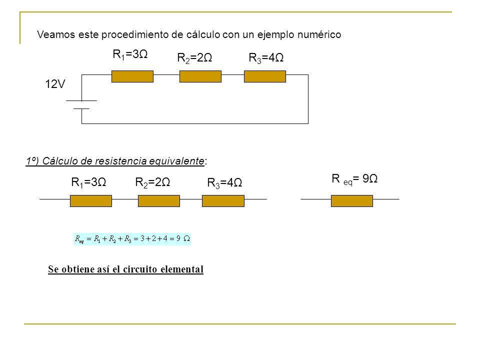 R1=3Ω R2=2Ω R3=4Ω 12V R eq= 9Ω R1=3Ω R2=2Ω R3=4Ω