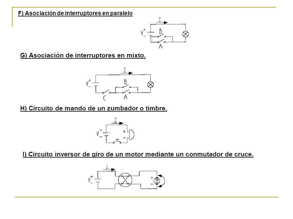 G) Asociación de interruptores en mixto.