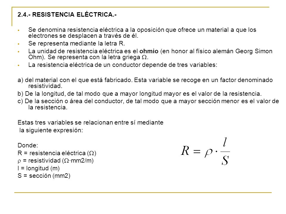 2.4.- RESISTENCIA ELÉCTRICA.-