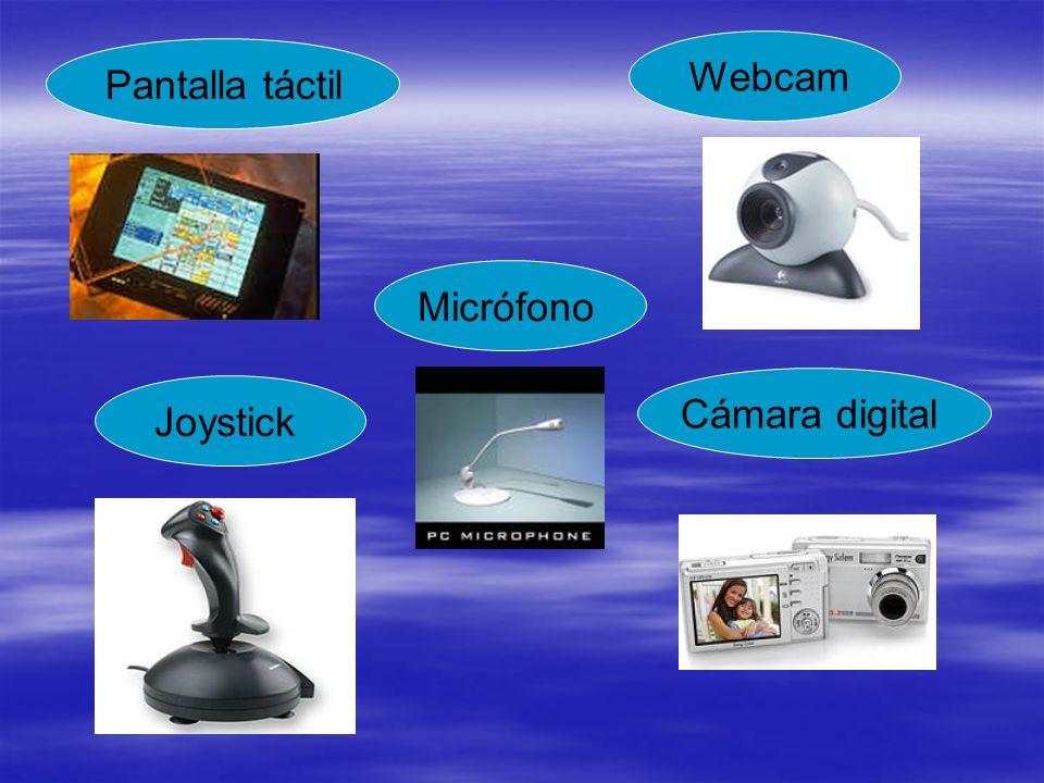 Webcam Pantalla táctil Micrófono Cámara digital Joystick