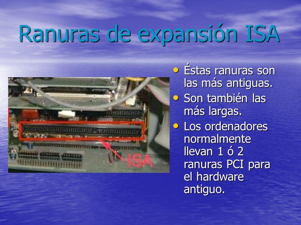 Ranuras de expansión ISA