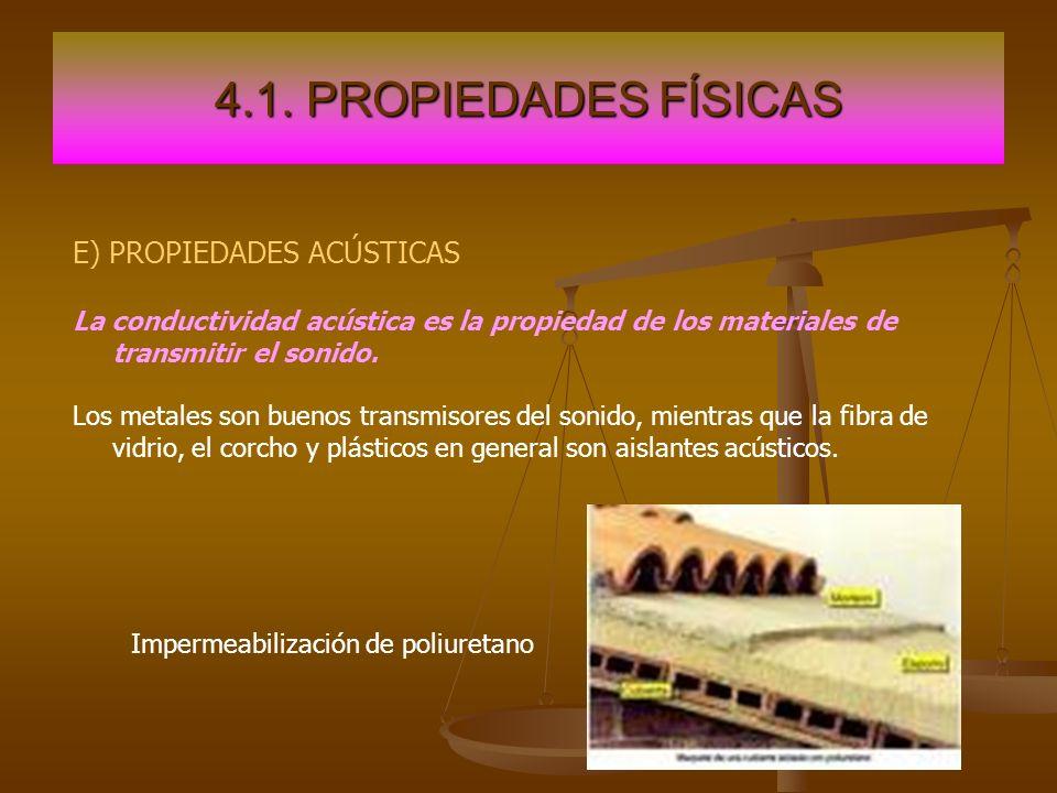 4.1. PROPIEDADES FÍSICAS E) PROPIEDADES ACÚSTICAS
