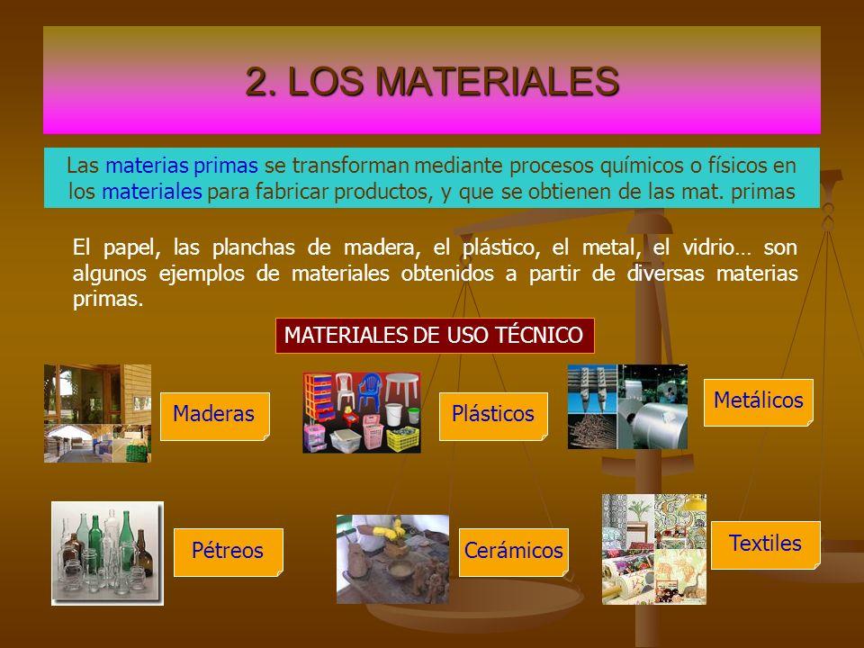 2. LOS MATERIALES