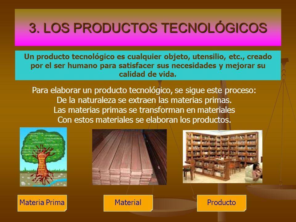 3. LOS PRODUCTOS TECNOLÓGICOS