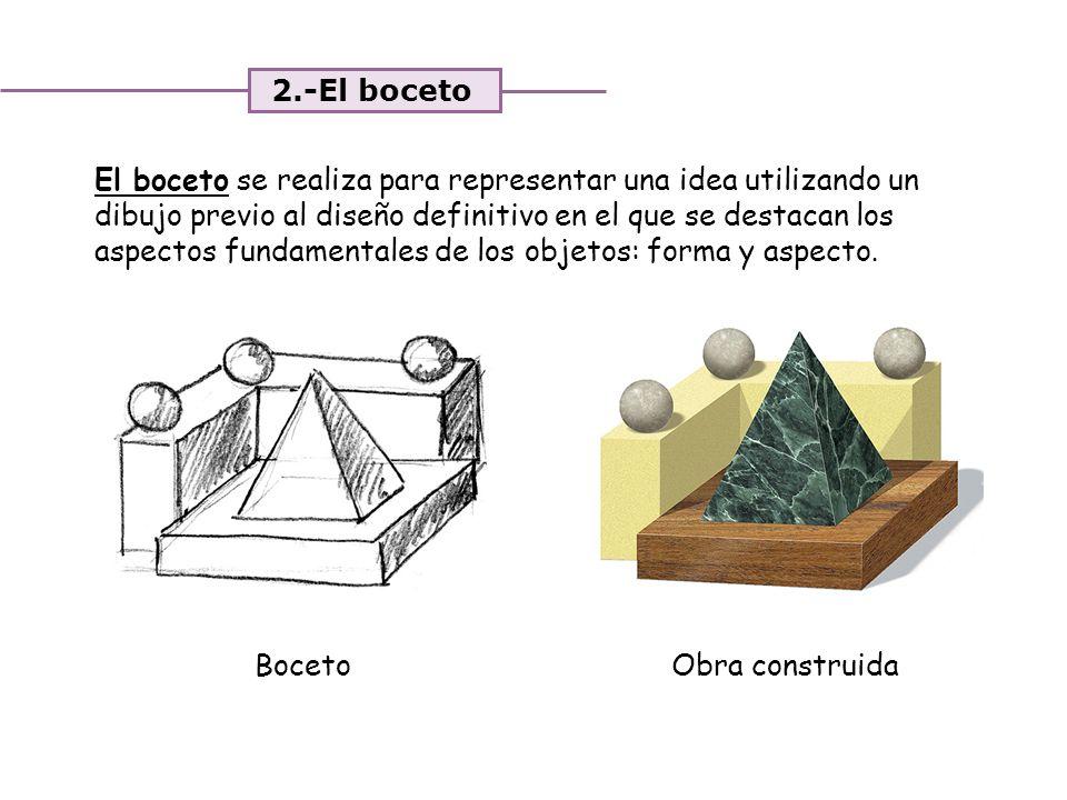 2.-El boceto