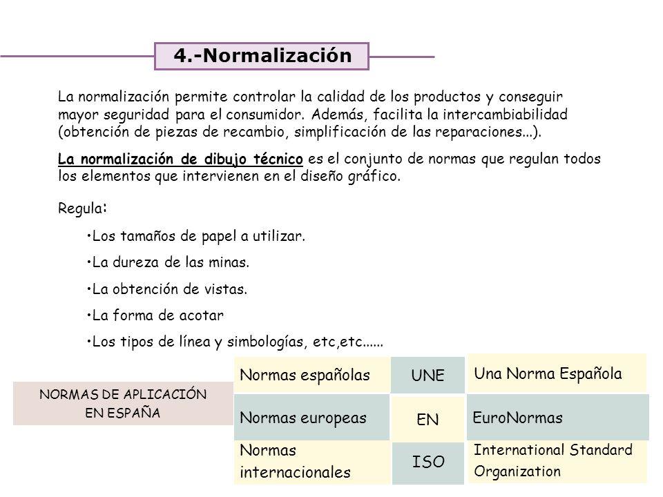 4.-Normalización Normas españolas UNE Una Norma Española