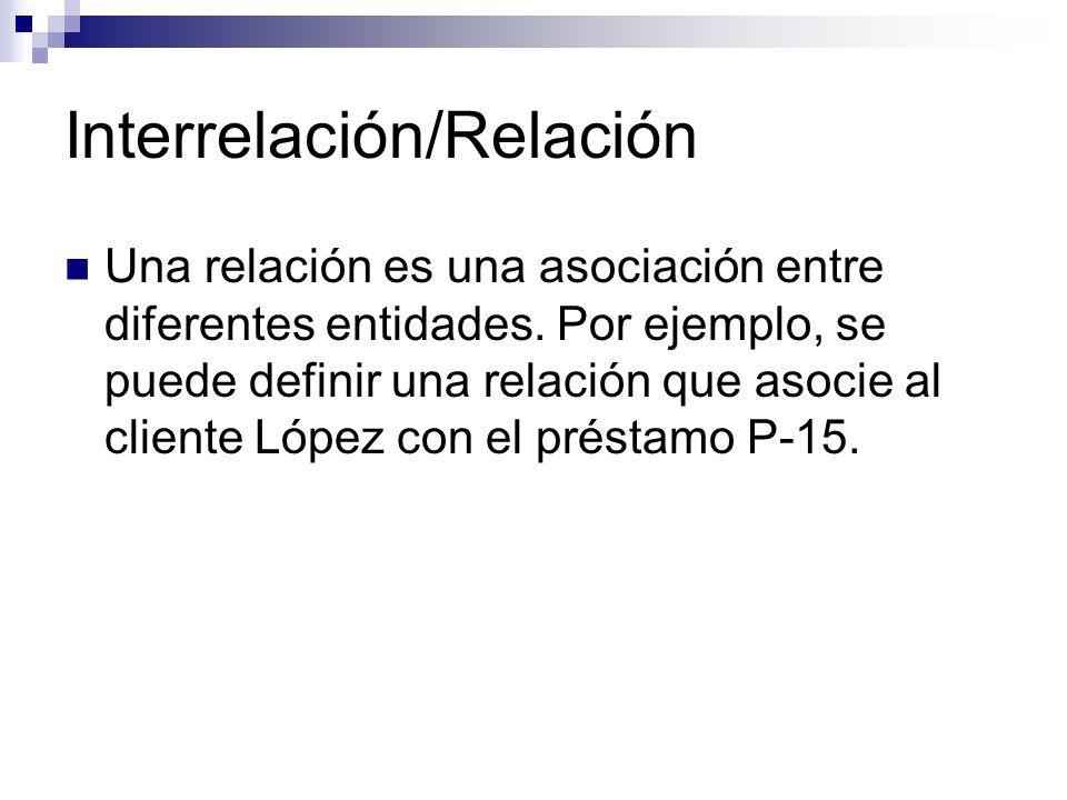 Interrelación/Relación