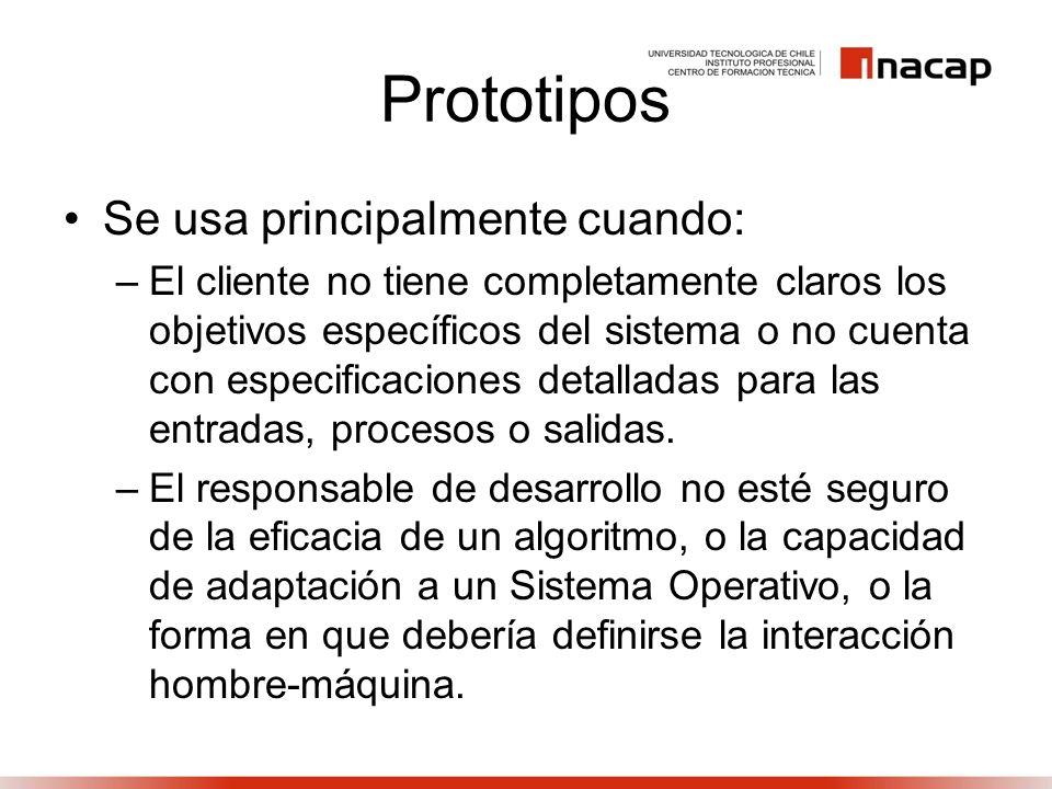 Prototipos Se usa principalmente cuando: