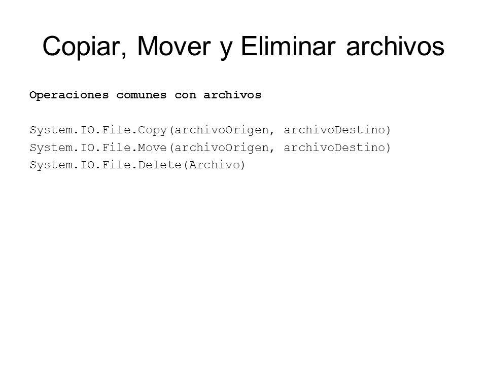 Copiar, Mover y Eliminar archivos