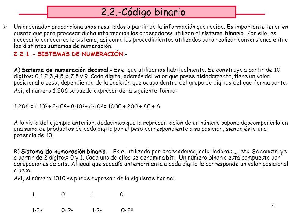 2.2.-Código binario