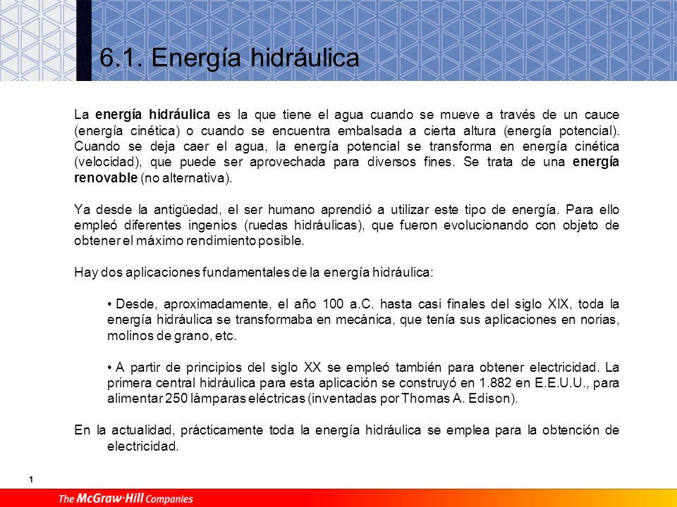 6.1. Energía hidráulica