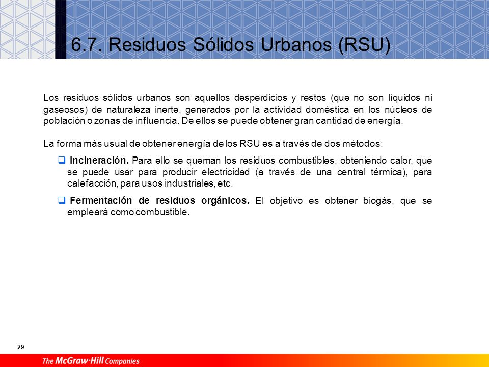 6.7. Residuos Sólidos Urbanos (RSU)