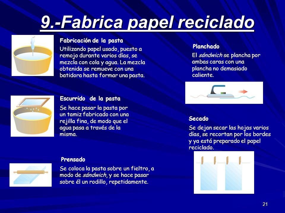 9.-Fabrica papel reciclado