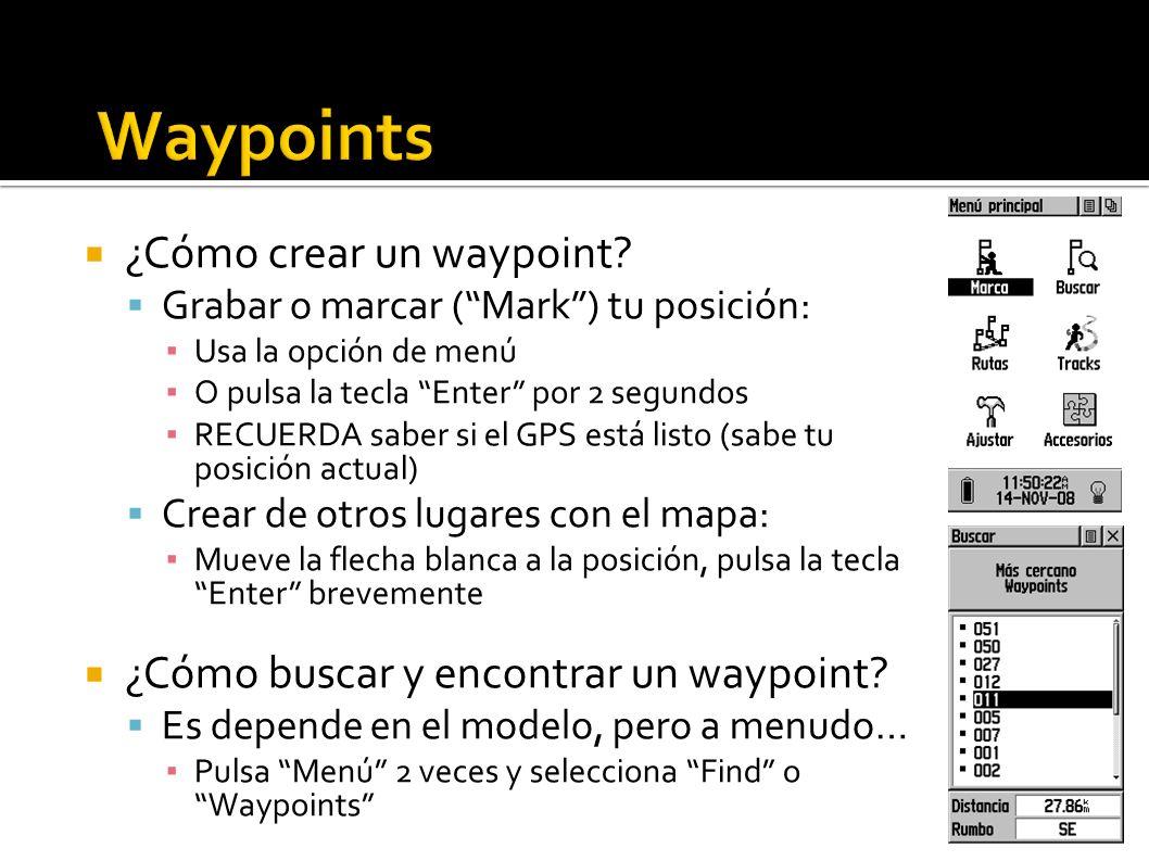 Waypoints ¿Cómo crear un waypoint
