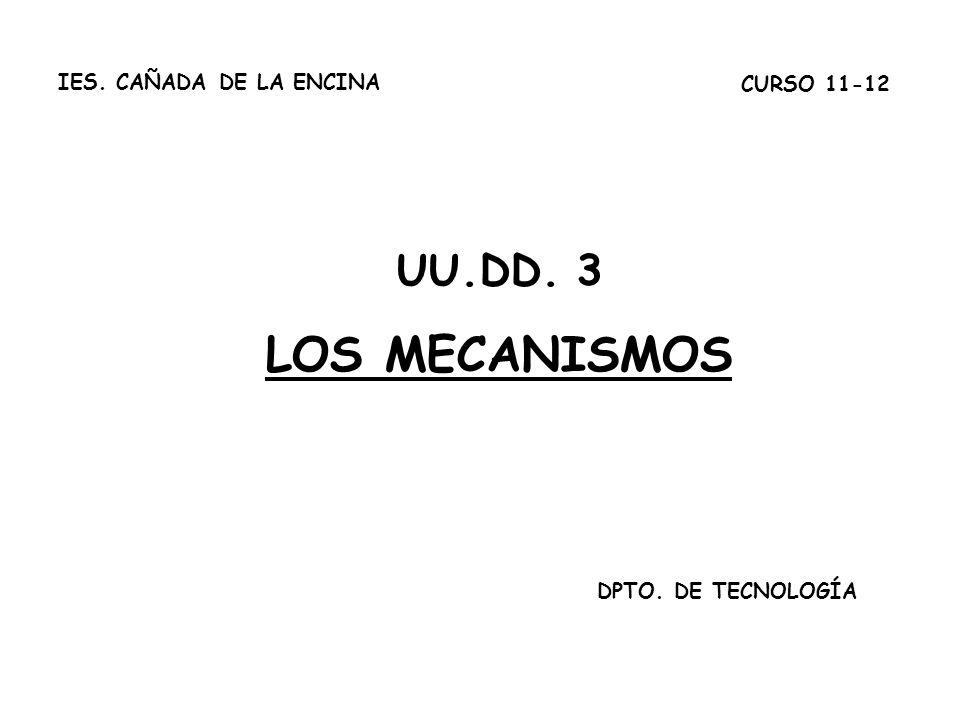 LOS MECANISMOS UU.DD. 3 IES. CAÑADA DE LA ENCINA CURSO 11-12