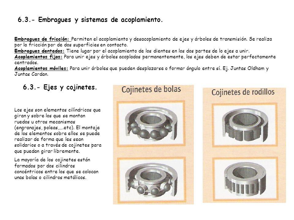 6.3.- Embragues y sistemas de acoplamiento.