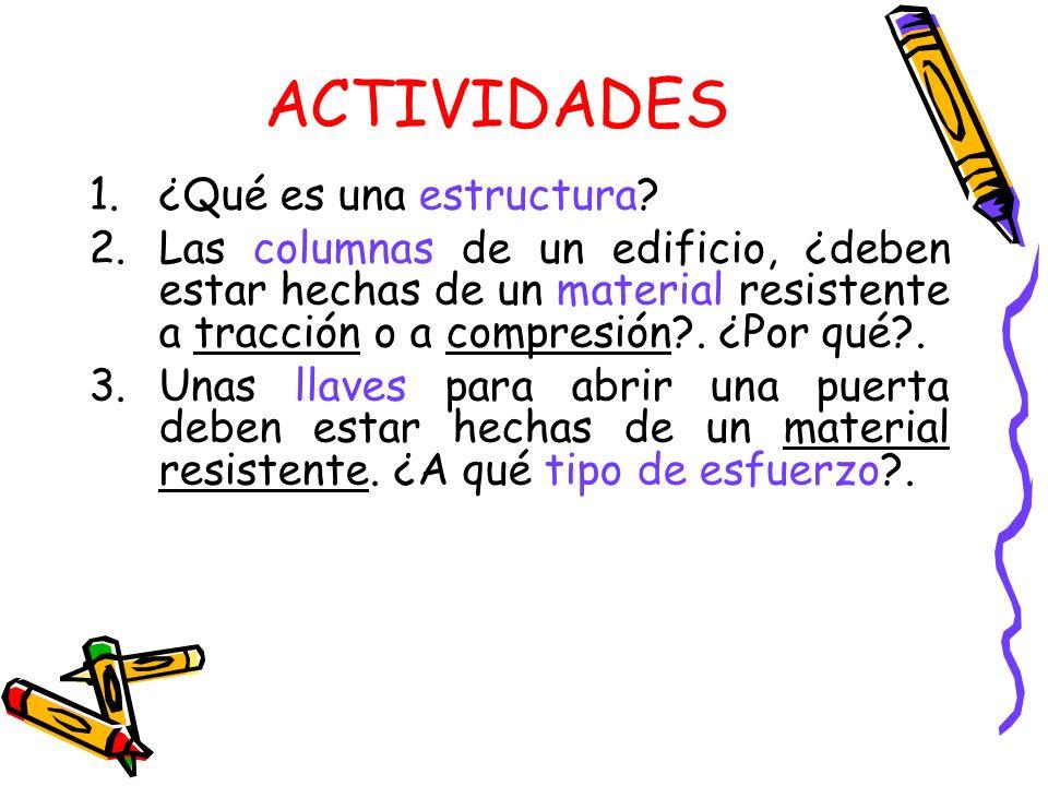 ACTIVIDADES ¿Qué es una estructura