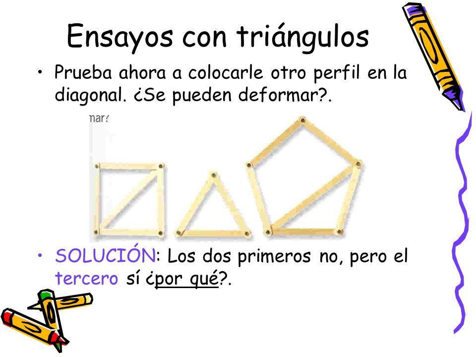 Ensayos con triángulos