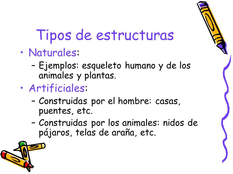 Tipos de estructuras Naturales: Artificiales:
