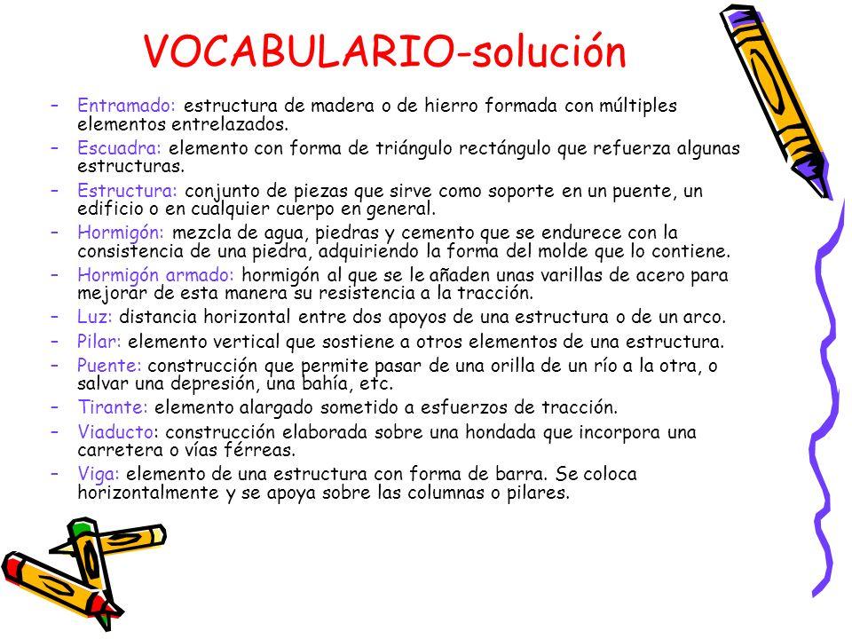 VOCABULARIO-solución