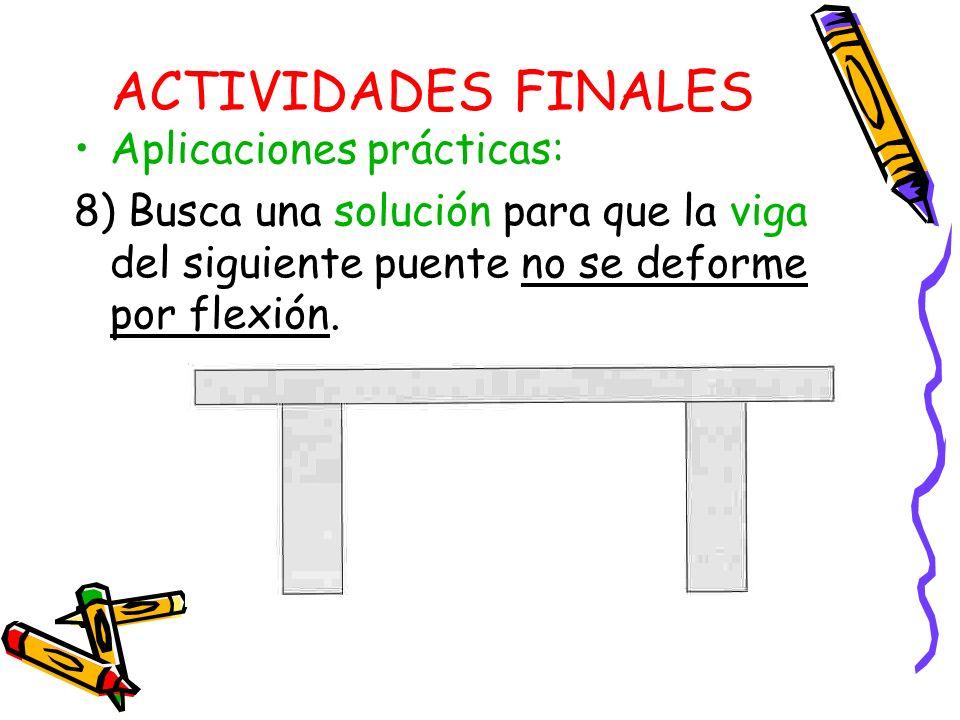ACTIVIDADES FINALES Aplicaciones prácticas: