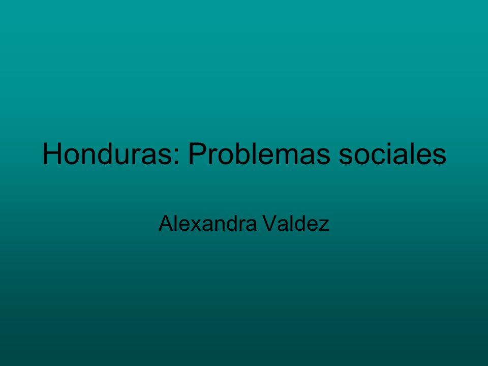 Honduras: Problemas sociales