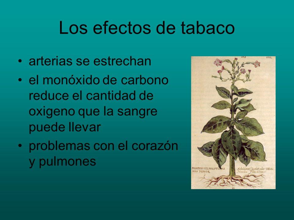 Los efectos de tabaco arterias se estrechan