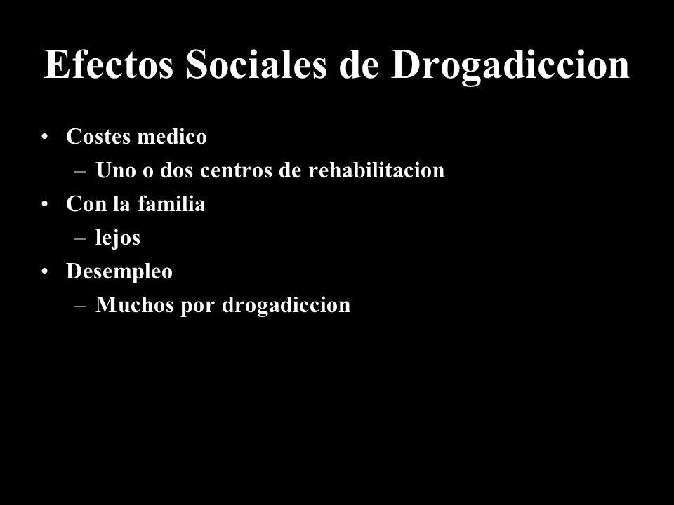 Efectos Sociales de Drogadiccion