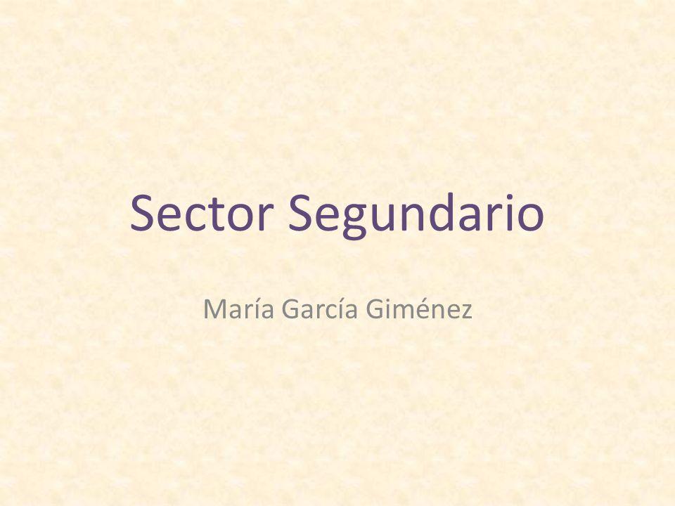 Sector Segundario María García Giménez