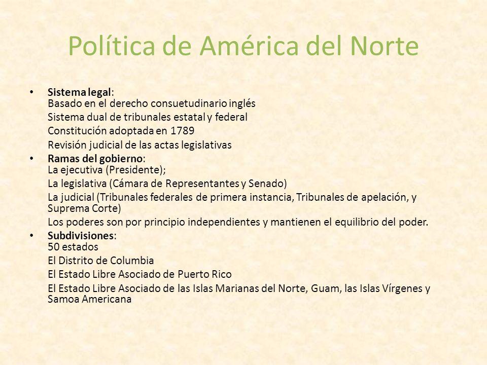 Política de América del Norte