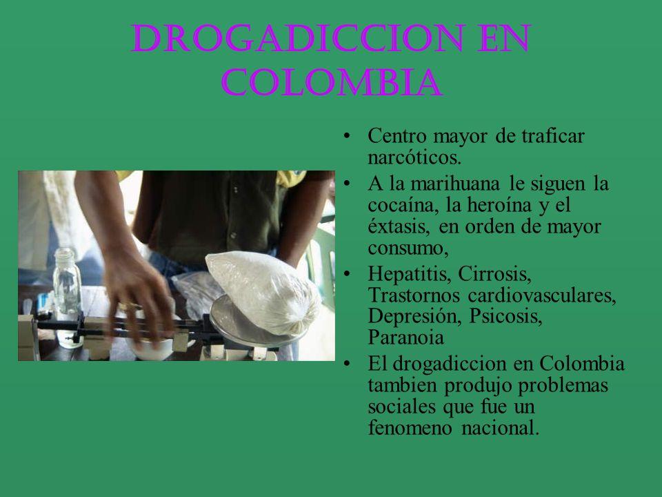 Drogadiccion en Colombia