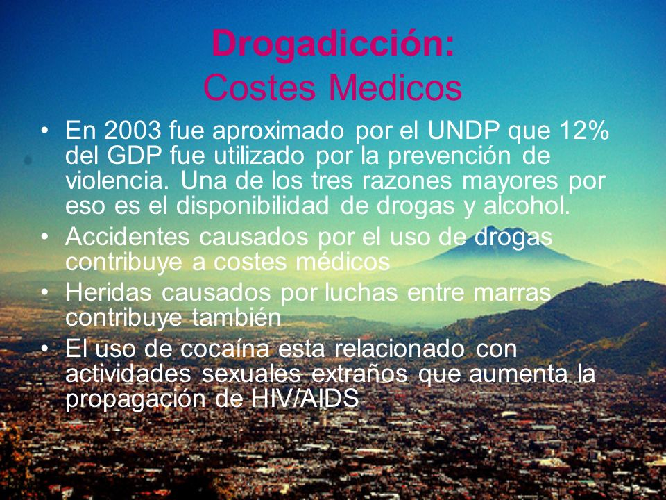 Drogadicción: Costes Medicos