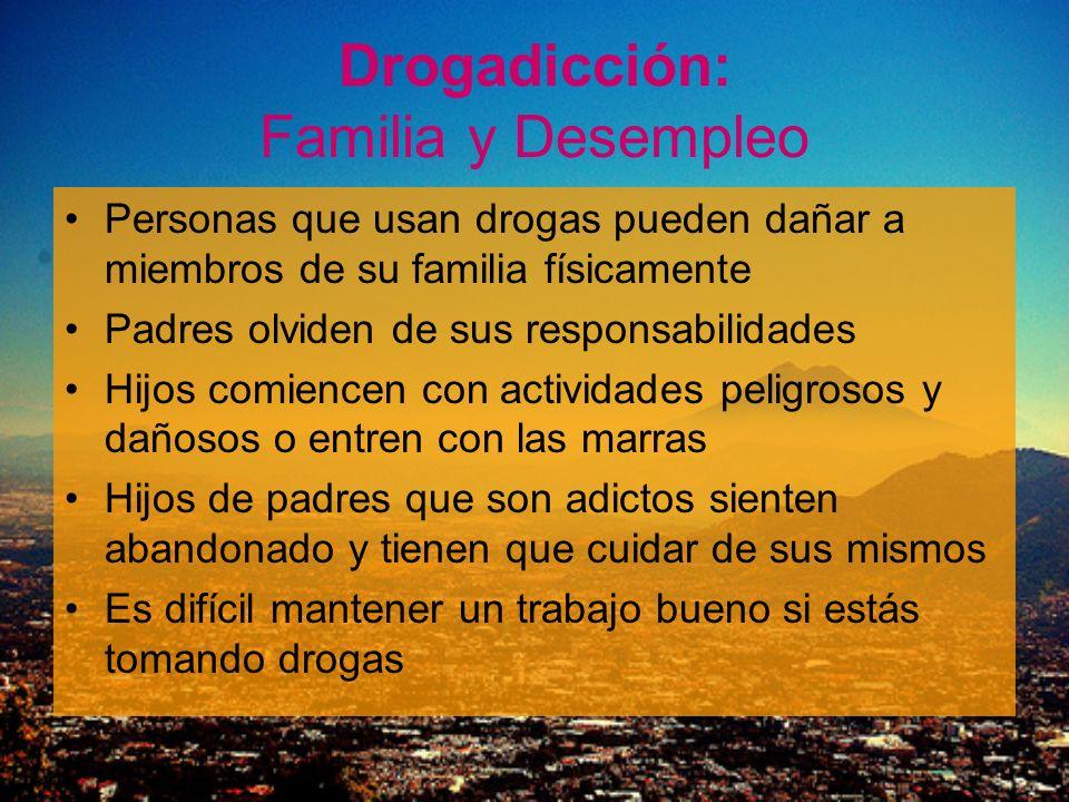 Drogadicción: Familia y Desempleo