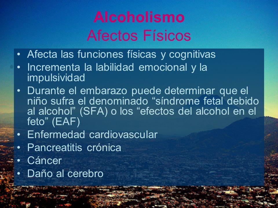 Alcoholismo Afectos Físicos