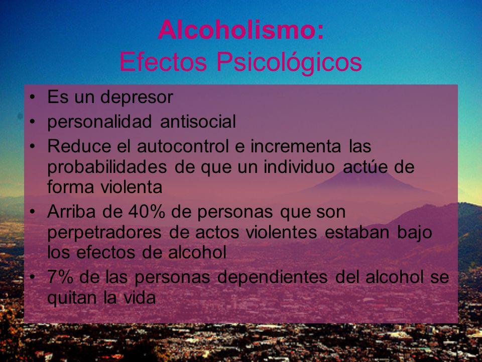 Alcoholismo: Efectos Psicológicos