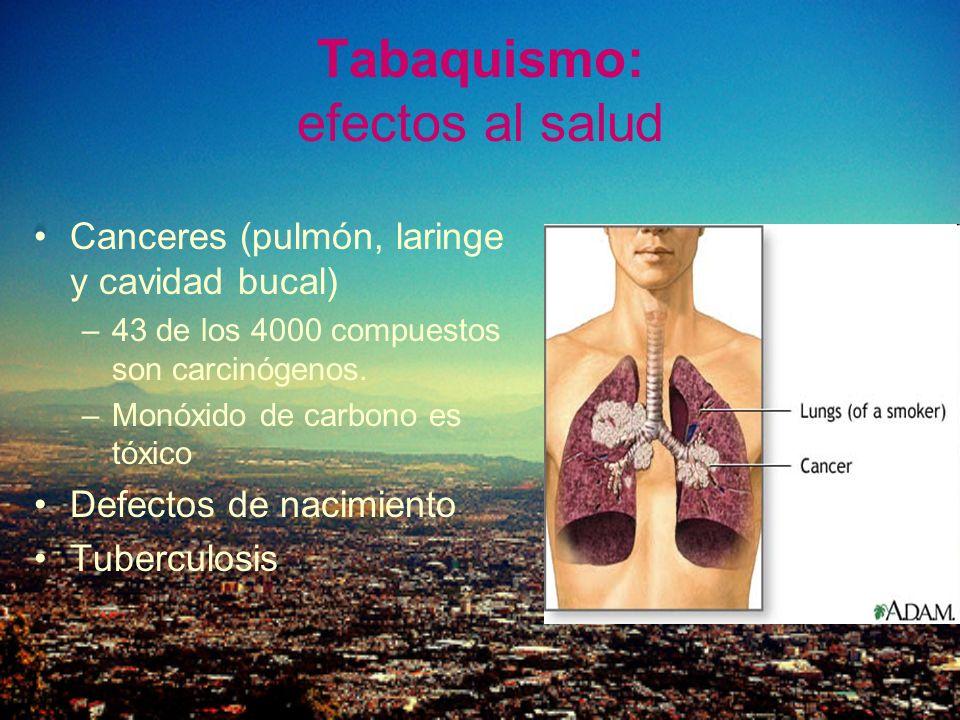 Tabaquismo: efectos al salud
