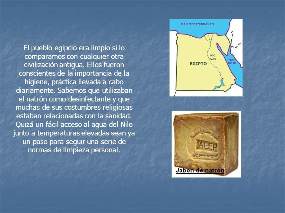 El pueblo egipcio era limpio si lo comparamos con cualquier otra civilización antigua.