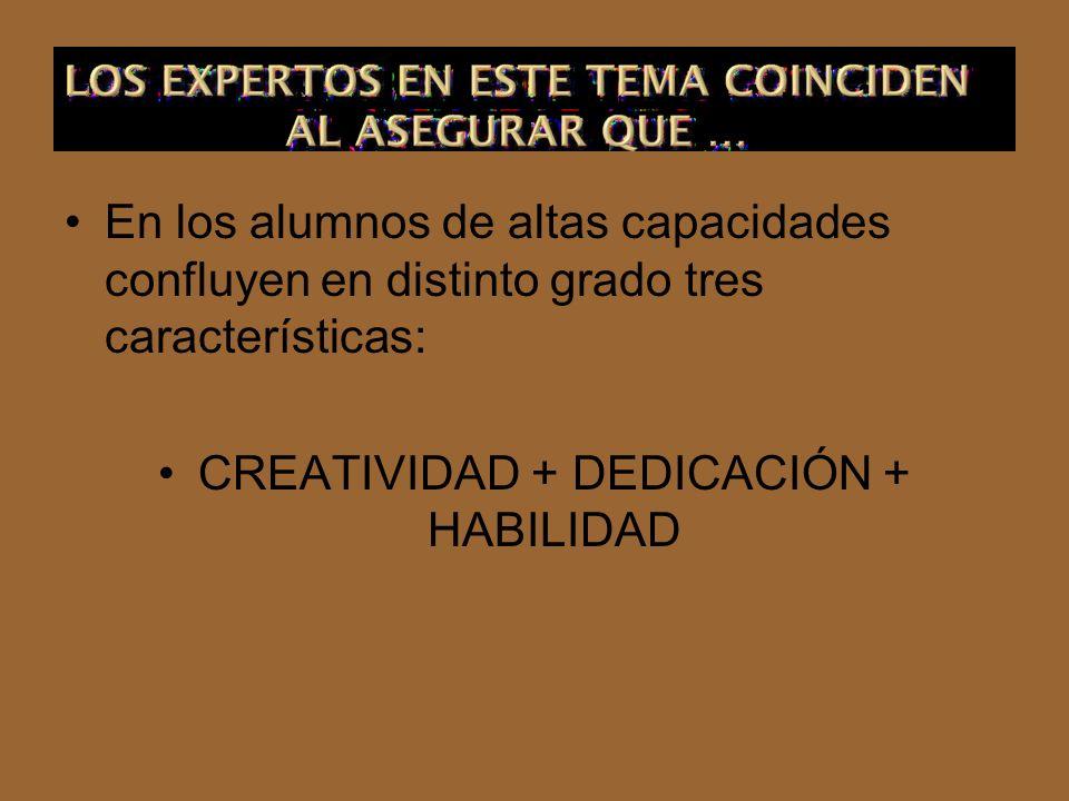 CREATIVIDAD + DEDICACIÓN + HABILIDAD