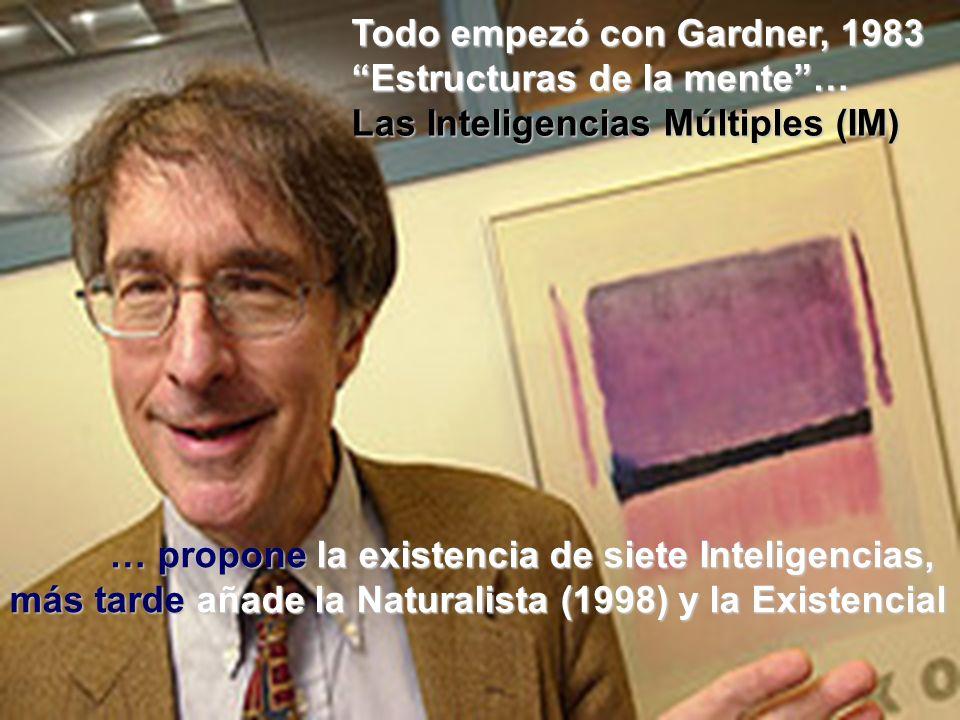 Todo empezó con Gardner, 1983
