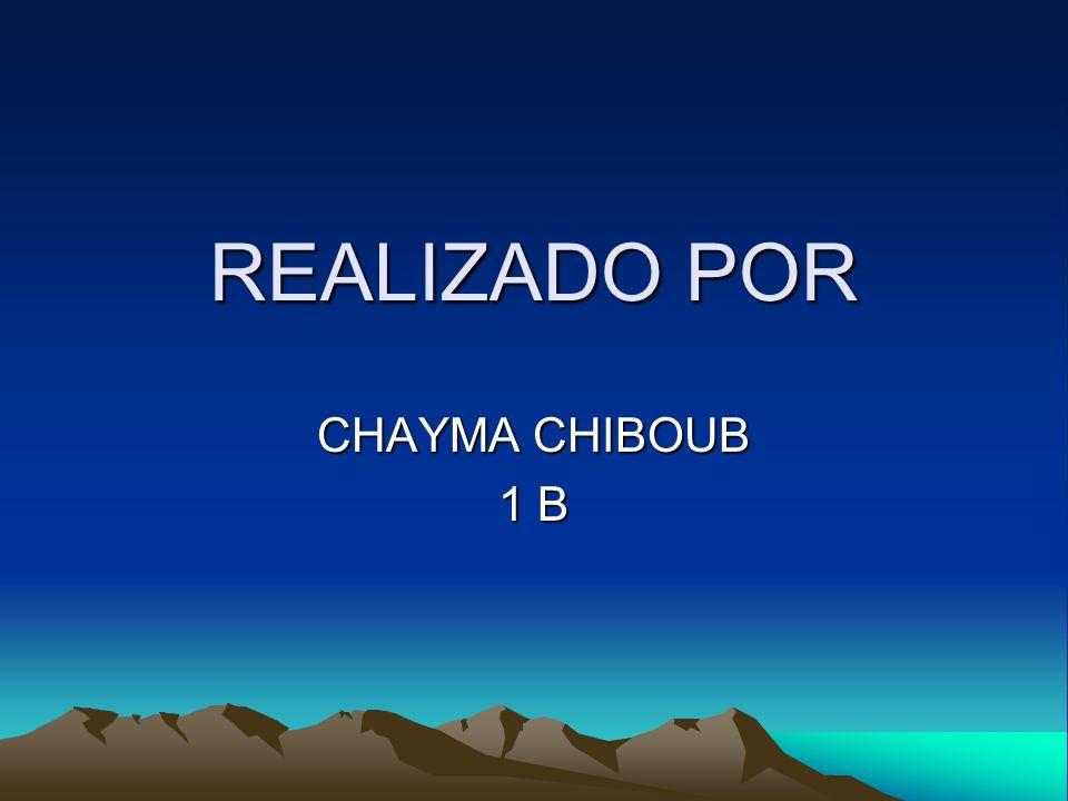 REALIZADO POR CHAYMA CHIBOUB 1 B