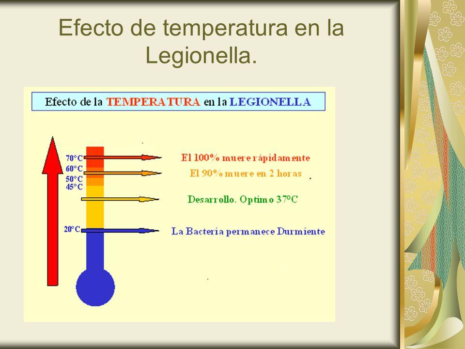 Efecto de temperatura en la Legionella.