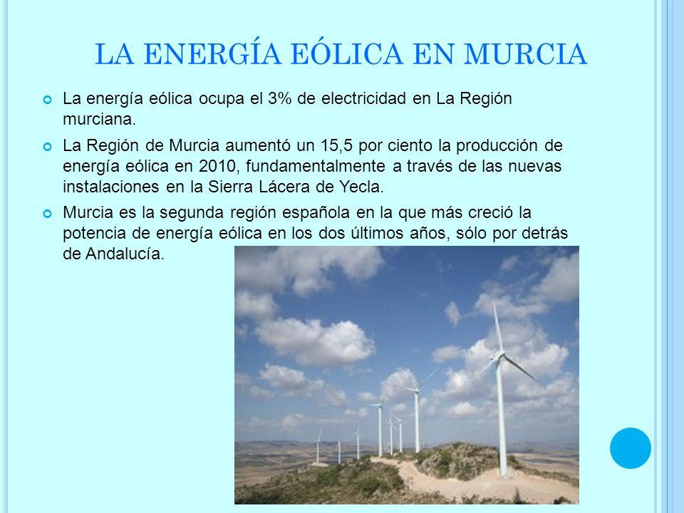 LA ENERGÍA EÓLICA EN MURCIA