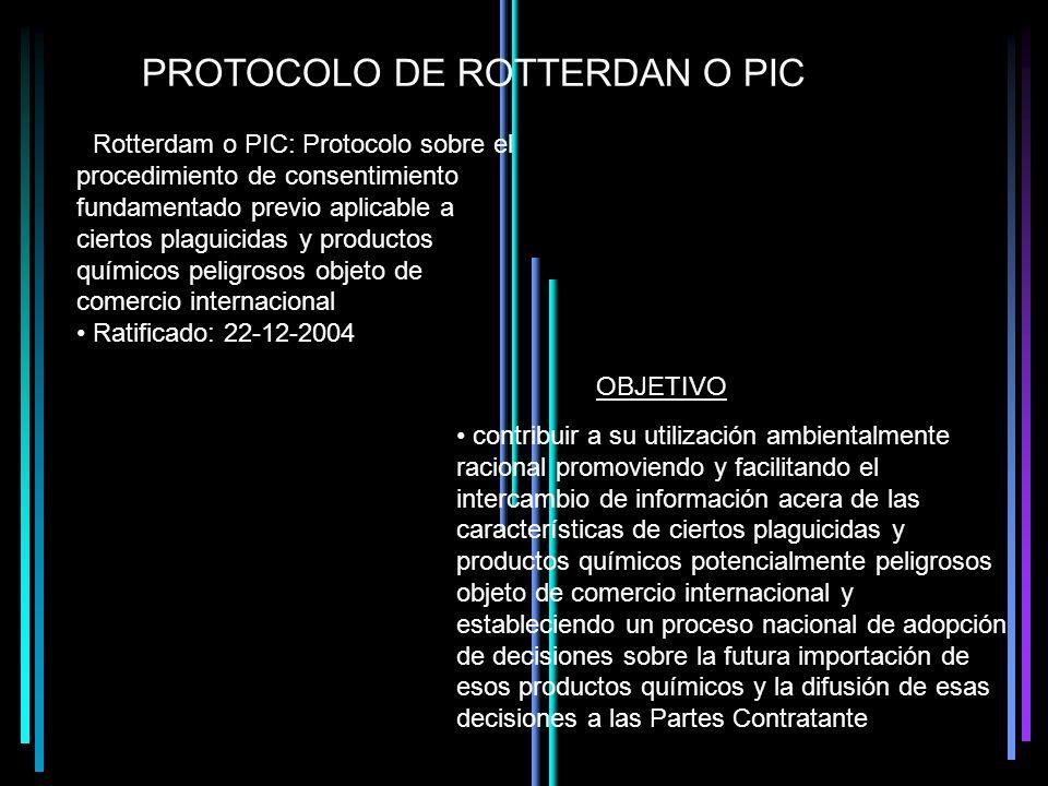PROTOCOLO DE ROTTERDAN O PIC
